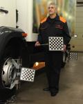 Стенд развал схождения для грузовых автомобилей ТехноВектор 7 Truck 3D