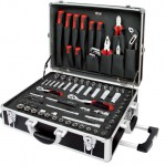 Набор инструмента 136 предметов в алюминивом чемодане (дюйм+метрика)