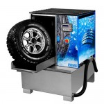 Мойка для колес грузовых автомобилей , с пневматической установкой загрузки колеса WULKAN-500