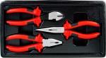 Набор губцевого инструмента для электрика, 3 предмета
