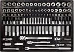 """Набор инструмента 1/4"""", 3/8"""" и 1/2"""" 108 предметов (дюйм+метрика)"""