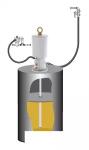 Комплект с насосом для консистентной смазки PumpMaster 6 для бочек185 кг