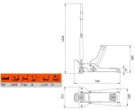 Подкатной домкрат BAHCO BH1A2500