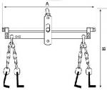 Балансир для подвешивания двигателя BAHCO BH6AC1-680