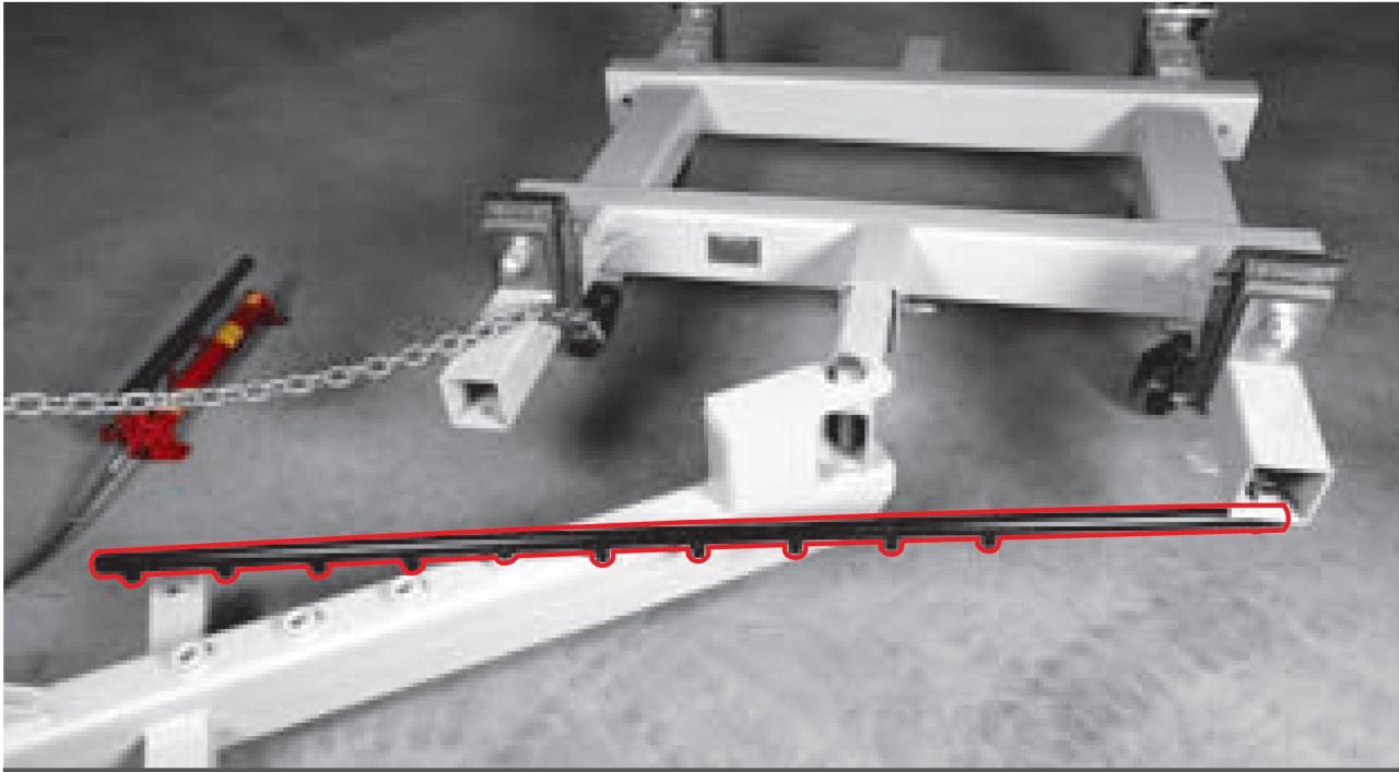 Размещение силового устройства под углом к стапелю