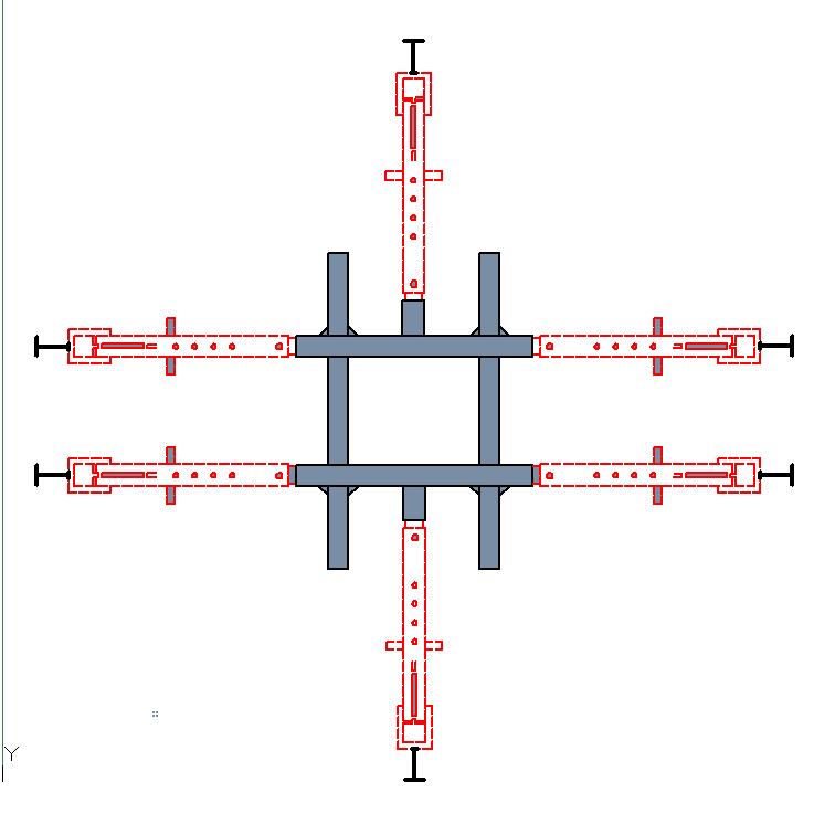 Места установки силового устройства на стапеле SIVER-A